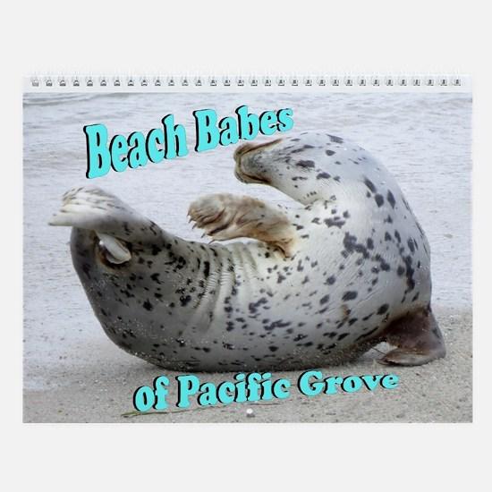 Beach Babes Of Pacific Grove Wall Calendar