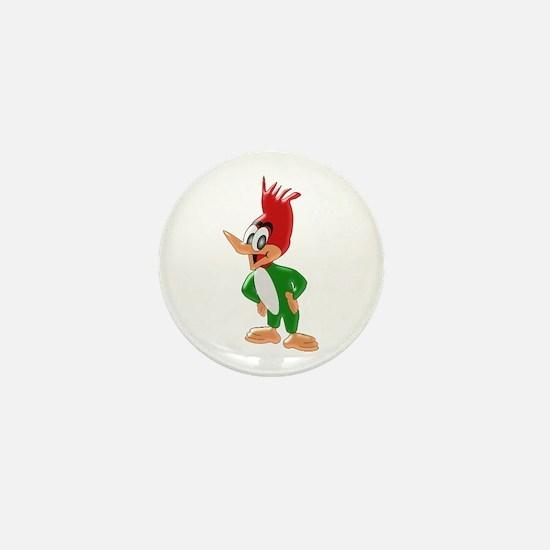 Woodpecker Mini Button