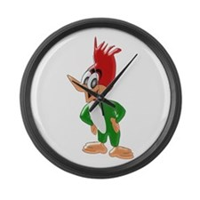 Woodpecker Large Wall Clock