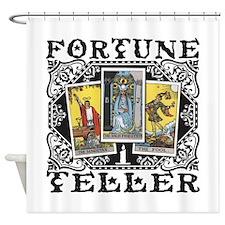 Fortune Teller black Shower Curtain