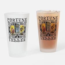 Fortune Teller black Drinking Glass