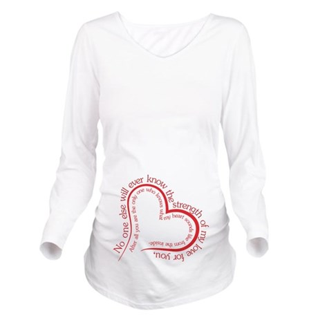 The Strength of My Love Long Sleeve Maternity T-Sh