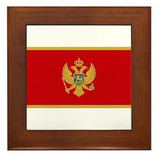 Flag of Montenegro Framed Tile