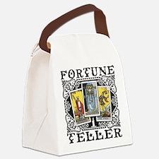 Fortune Teller black Canvas Lunch Bag