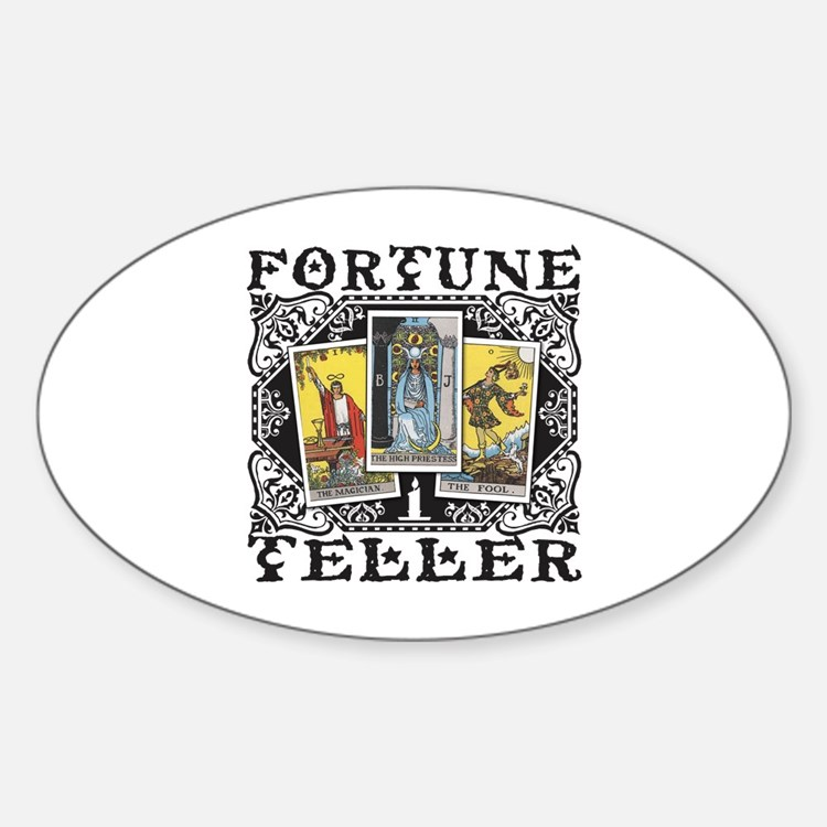 Fortune Teller black Sticker (Oval)