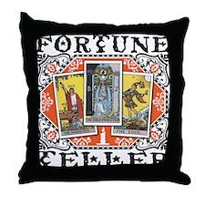 Fortune Teller orange Throw Pillow