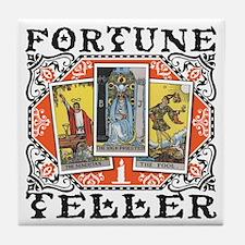 Fortune Teller orange Tile Coaster