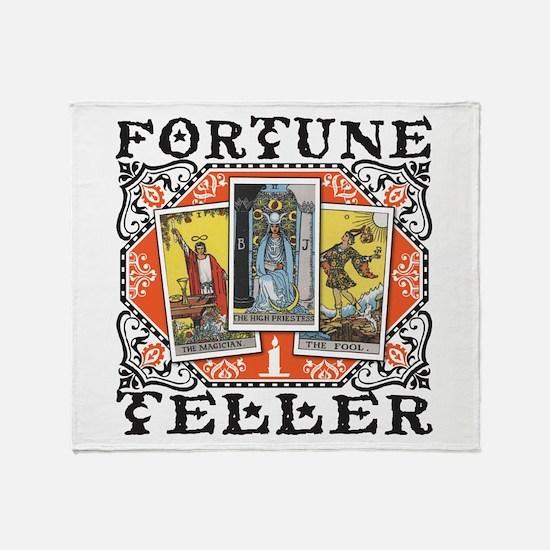 Fortune Teller orange Throw Blanket