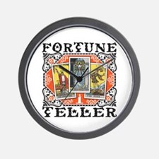 Fortune Teller orange Wall Clock