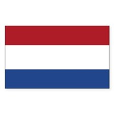 Flag of the Netherlands Rectangle Decal