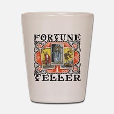 Fortune Teller orange Shot Glass