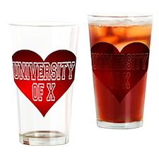 Generic University Heart Drinking Glass