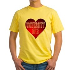 Generic University Heart T-Shirt