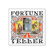 "Fortune Teller orange Square Sticker 3"" x 3"""