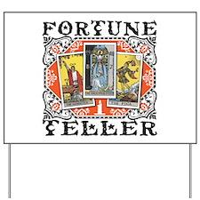 Fortune Teller orange Yard Sign