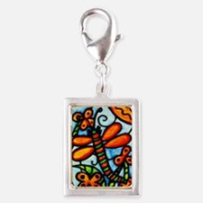Whimsical Dragonfly Silver Charm