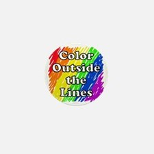 Color Outside the Lines Mini Button