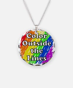 Color Outside the Lines Necklace