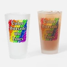 Color Outside the Lines Drinking Glass