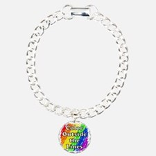 Color Outside the Lines Charm Bracelet, One Charm