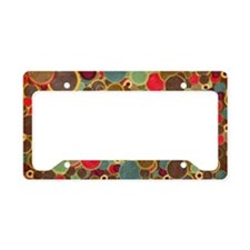 retro patterns License Plate Holder