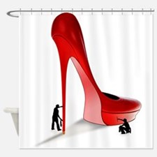 Giant Red Stiletto Art Shower Curtain