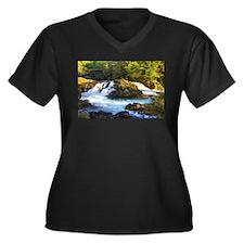 Canyon Creek Waterfall Plus Size T-Shirt
