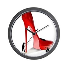 Giant Red Stiletto Art Wall Clock