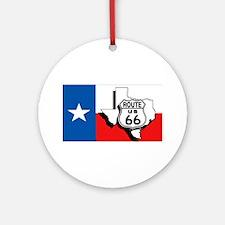 Rt 66 Texas Ornament (Round)