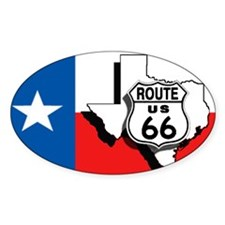 Rt 66 Texas Oval Decal