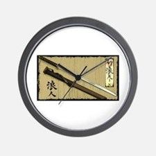The Blade of the 47 Ronin Wall Clock