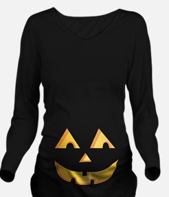 Jack O Lantern Long Sleeve Maternity T-Shirt