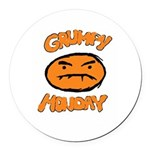 Orange Monay Round Car Magnet