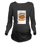 Orange Monay Long Sleeve Maternity T-Shirt