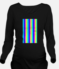 Colourful Stripes Hype 24 Long Sleeve Maternity T-