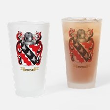 Popple Coat of Arms (Family Crest) Drinking Glass