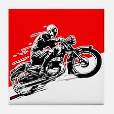 Vintage Motorcycle Racing Tile Coaster