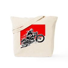 Vintage Motorcycle Racing Tote Bag