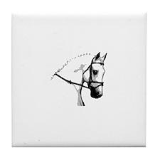 Grey Dressage Horse Tile Coaster
