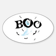 Ghost Boo Sticker (Oval)