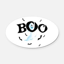 Ghost Boo Oval Car Magnet
