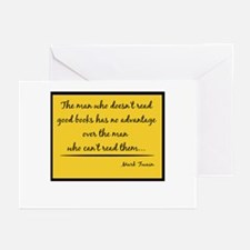 Twain Good Books--yellow Greeting Cards (Package o