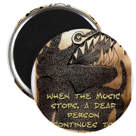When The Music Stops - Igbo Proverb Magnet