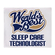 Sleep Care Technologist (Worlds Best) Throw Blanke