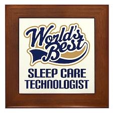 Sleep Care Technologist (Worlds Best) Framed Tile