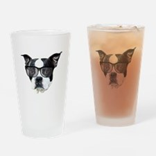 Boston terrier glasses Drinking Glass