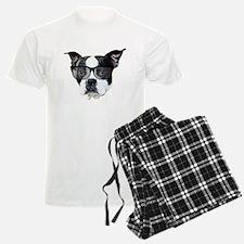 Boston terrier glasses pajamas