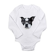 Boston terrier glasses Onesie Romper Suit