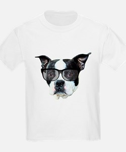 Boston terrier glasses T-Shirt