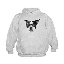 Boston terrier glasses Hoodie